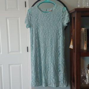 Bule lace dress